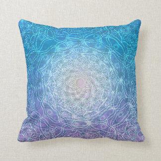 Almofada Reflexão violeta azul da mandala
