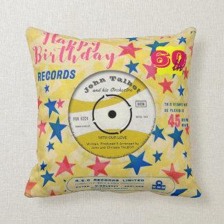 Almofada Registro de vinil retro 45 RPM do travesseiro
