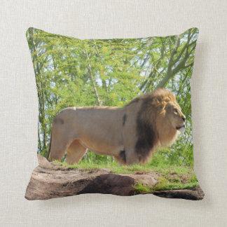 Almofada Rei do travesseiro do quadrado da selva (leão)