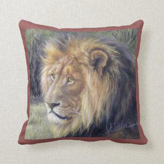 """Almofada Rei e rainha do leão 16"""" x 16"""" travesseiro"""