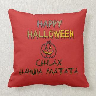 Almofada Relaxe o Dia das Bruxas feliz assustador nenhuma