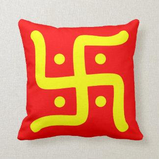 Almofada religião hindu tradicional indiana do símbolo da