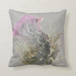 Almofada Respingo floral cinzento, coxim do scatter
