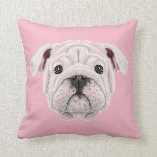 Almofada Retrato ilustrado do filhote de cachorro inglês do