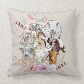 Almofada Retratos bonitos GetYerGoat™ da cabra da aguarela