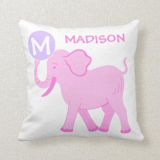 Almofada Reversible bonito do berçário cor-de-rosa do bebé