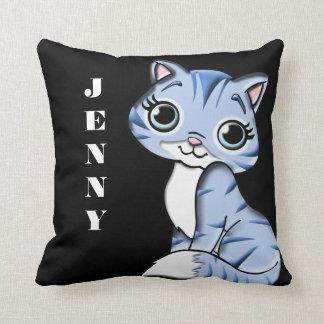 Almofada Reversible bonito do gatinho de Lil