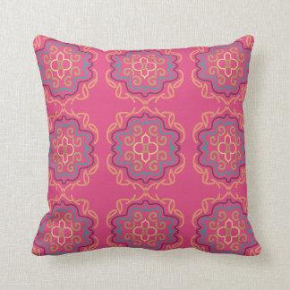 Almofada REVERSIBLE cor-de-rosa vívido do travesseiro do