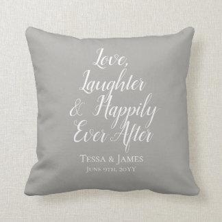 Almofada Riso do amor feliz nunca após a data Wedding de |