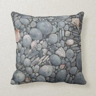 Almofada Rochas dos seixos da praia das pedras