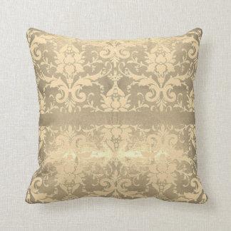 Almofada Rolo cintilante do vintage do ouro
