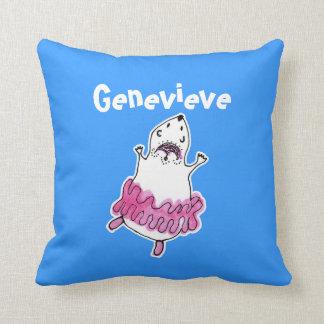 Almofada Rosa azul do travesseiro bonito da bailarina do