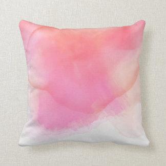 Almofada Rosa bonito da aguarela & corais - todos os