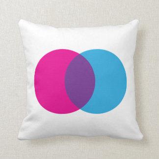 Almofada Rosa do diagrama de Venn, azul, & texto feito sob