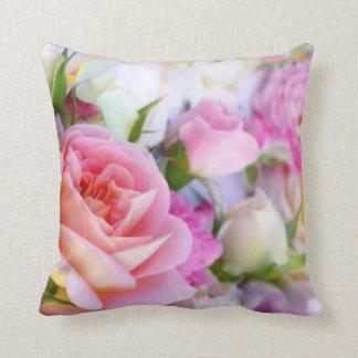 Almofada Rosa do rosa floral - travesseiro decorativo do