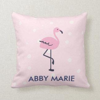 Almofada Rosa e teste padrão do flamingo do ponto do