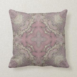 Almofada Rosa e travesseiro do mármore do ouro