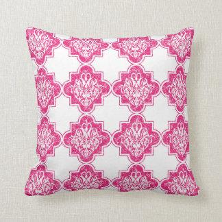 Almofada Rosa moderno brilhante do teste padrão do azulejo