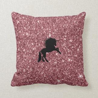 Almofada rosa sparkling do unicórnio