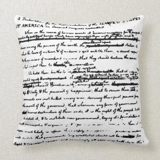 Almofada Roteiro reversível bonito - Thos. Jefferson 1776