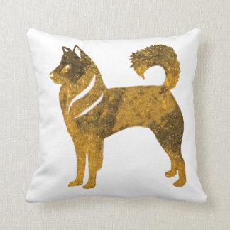 Almofada Rouco dourado do coxim do lance do cão
