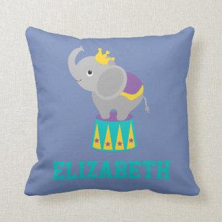 Almofada Roxo amarelo azul do elefante animal do carnaval