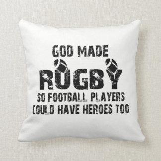 Almofada Rugby - assim os jogadores de futebol têm heróis