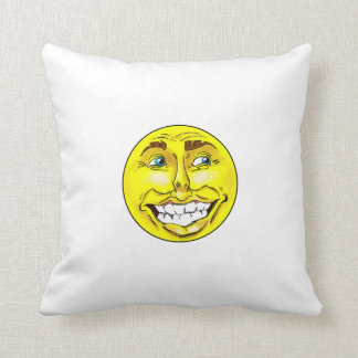 Almofada Saco de perfuração feliz realístico da cara de