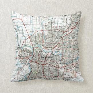 Almofada Sacramento Califórnia Mapa (1994)
