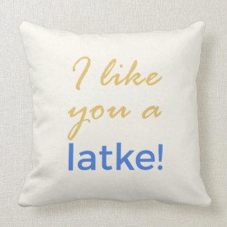 Almofada Sacudir de Menorah - eu gosto de você um Latke