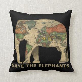 Almofada Salvar o travesseiro decorativo dos elefantes
