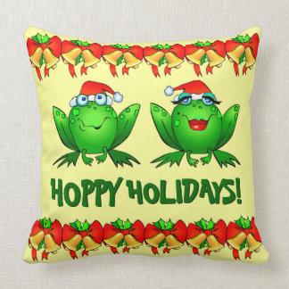 Almofada Sapos bonitos do Natal do papai noel dos feriados