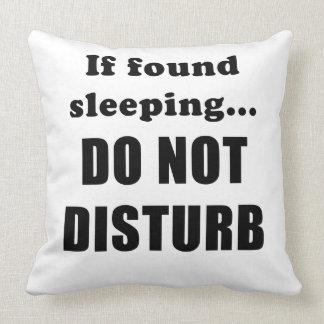 Almofada Se encontrado dormir não perturba