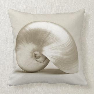 Almofada Seashell do nautilus da pérola