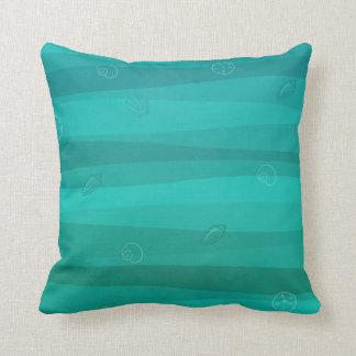 Almofada Seashells no travesseiro decorativo das ondas