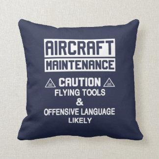 Almofada Segurança da manutenção de aviões