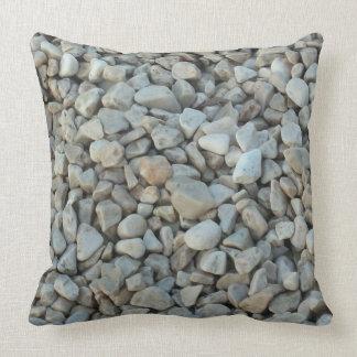 Almofada Seixos na fotografia da pedra da praia