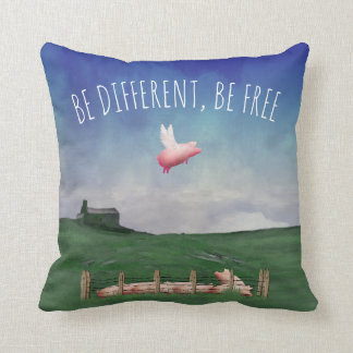 Almofada Seja diferente. Esteja livre