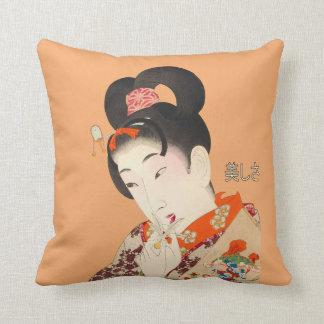 Almofada Senhora bonita Japonês Imprimir 4 Toyohara