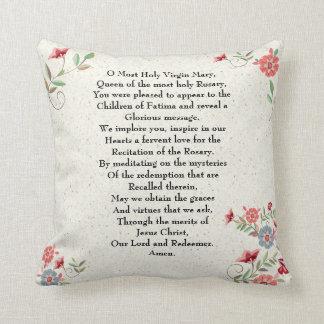 Almofada Senhora católica do presente da oração de Fatima