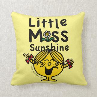 Almofada Senhorita pequena pequena Luz do sol Riso da