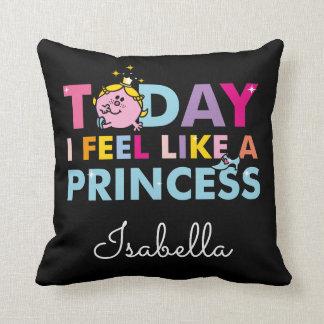 Almofada Senhorita pequena princesa | que eu sinto como uma