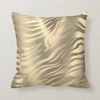 Almofada Sepia africano Miami da pele animal da zebra do