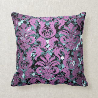 Almofada Sequin aquático do roxo da violeta de damasco da