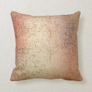Almofada Sequin metálico da escova Glam cor-de-rosa do ouro