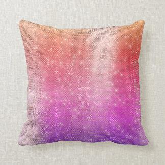 Almofada Sequin Sparkly metálico cor-de-rosa brilhante do