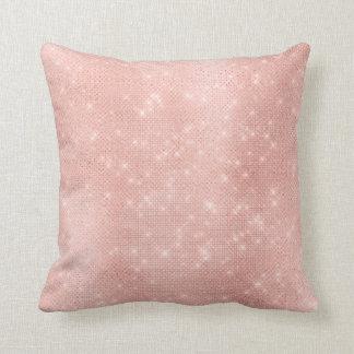Almofada Sequin Sparkly metálico do rosa luxuoso do ouro do
