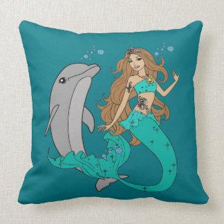 Almofada Sereia com golfinho