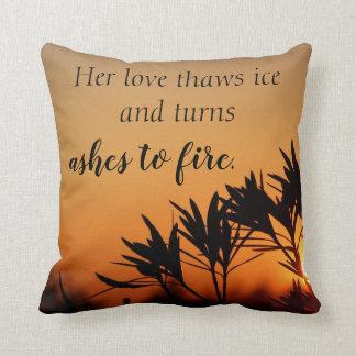 Almofada Seu travesseiro decorativo romântico da poesia do