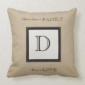Almofada Seus travesseiros do monograma e do amor da